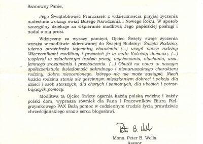 List_od_Papieza